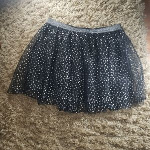Black and Silver Polka Dot Tutu 5/25